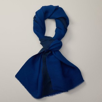 Love & Lore Love And Lore Reversible Pleated Scarf Azure Blue & Navy