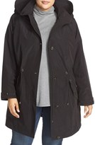 Gallery Plus Size Women's Water Repellent Hooded Anorak