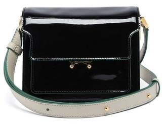 Marni Trunk Mini Patent-leather Cross-body Bag - Black