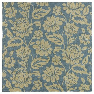 Glenn Charlton Home Floral Hand-Tufted Azure Area Rug Charlton Home Rug Size: Rectangle 4' x 6'