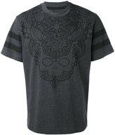 Hydrogen skull print T-shirt - men - Cotton - 52