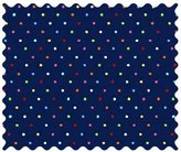 Camilla And Marc SheetWorld Primary Colorful Pindots Navy Woven Fabric - By The Yard - 101.6 cm (44 inches)