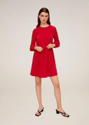 MANGO Drawstring waist dress