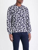 Sandro Wave-print cotton-jersey sweatshirt