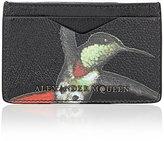 Alexander McQueen MEN'S HUMMINGBIRD-PRINT CARD CASE