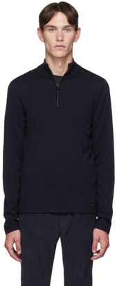 HUGO Navy Wool San Gottardo Turtleneck Sweater