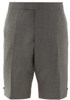 Thom Browne Straight-leg Super 120s Wool-twill Shorts - Grey