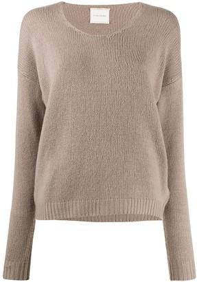 Fine Edge v-neck fine knit jumper
