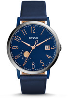 Fossil Vintage Muse Three- Hand Date Blue Leather Watch