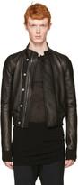 Rick Owens Black Leather Glitter Egon Jacket