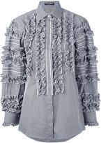 Dolce & Gabbana gingham ruffle check blouse - women - Cotton/Polyamide/Spandex/Elastane - 38