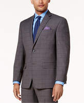 Sean John Men's Classic-Fit Stretch Gray/Blue Birdseye Windowpane Suit Jacket