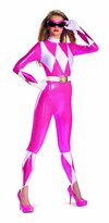 Disguise Sabans Mighty Morphin Power Rangers Pink Ranger Sassy Womens Adult Bodysuit Costume