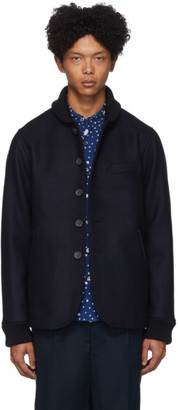 Blue Blue Japan Navy Double Melton Starry Night Award Jacket