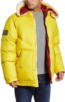 Woolrich Expedition Reversible Down Parka with Genuine Shearling Trim