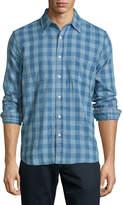 Faherty Reversible Belmar Plaid-Print Shirt, Indigo