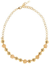 Cole Haan 12K Gold Plated Station & Stone Collar Necklace