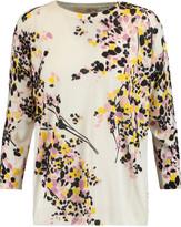 Giambattista Valli Printed silk and cashmere-blend sweater