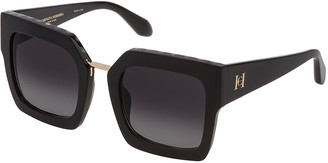 Carolina Herrera Thick Acetate Square Sunglasses