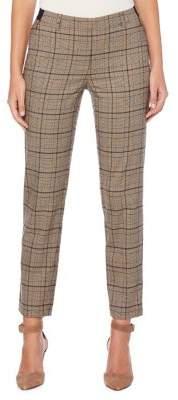 Rafaella Petite High-Waist Plaid Ankle Pants