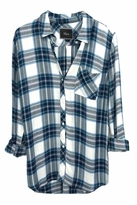 Rails Hunter Plaid Shirt in White/Jade