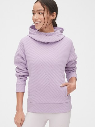 Gap GapFit Jacquard Quilted Pullover Hoodie
