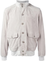 Cruciani button up jacket - men - Cotton/Suede/Spandex/Elastane - 48
