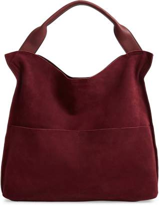 Sole Society Suede & Faux Leather Shoulder Bag