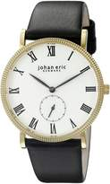 Johan Eric Men's JE-H1000-02-001 Holstebro Analog Display Quartz Black Watch