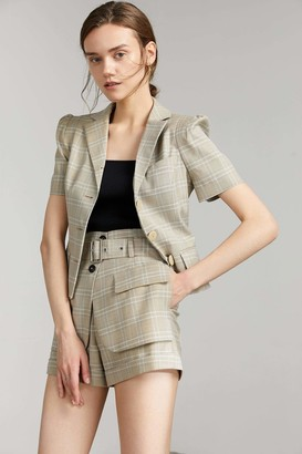 J.ING Nadia Crop Short Sleeve Button-Up