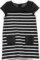 Gymboree Back & White Stripe Cap-Sleeve Shift Dress - Girls