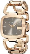 Gucci Women's YA125408 G Brown Sun-Brushed Dial Stainless Steel Watch