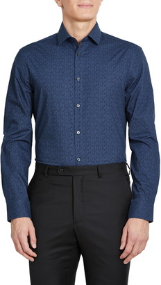 John Varvatos Slim Fit Floral Dress Shirt