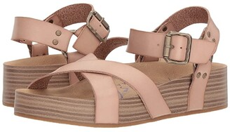 Blowfish Makara (Blush Dyecut PU) Women's Sandals