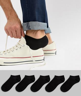 Asos Design DESIGN 5 pack sneaker socks in black save