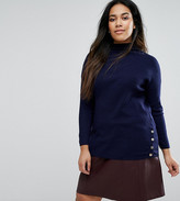 New Look Plus New Look Curve Popper Side Stripe Top