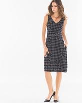 Soma Intimates Fit and Flare Sleeveless Short Dress Houndstooth Mix Heather Quartz