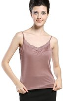 Forever Angel-Women's Tops Forever Angel Women's Knitted Silk Lace Camisole Tops Size M