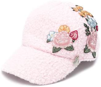MonnaLisa embroidered floral cap