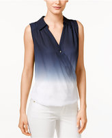 INC International Concepts Ombré Surplice Top, Only at Macy's