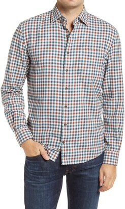 johnnie-O Hangin' Out Partee Check Flannel Button-Up Shirt