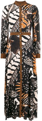 Temperley London Abstract Print Dress