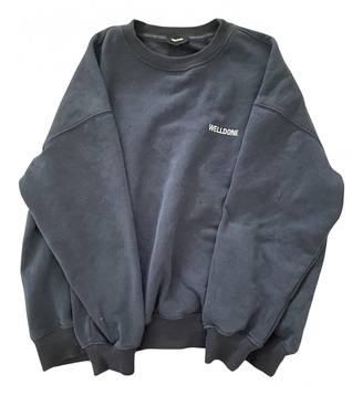 we11done Navy Cotton Knitwear