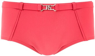 AMIR SLAMA Belt Detail Swim Trunks