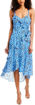 Parker Kathy Silk-Blend Midi Dress