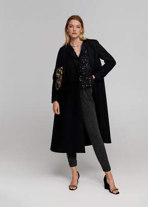 MANGO Recycled wool oversize coat