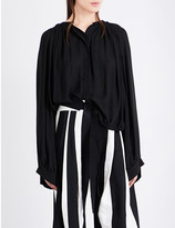 Ann Demeulemeester Thelma ruched woven blouse