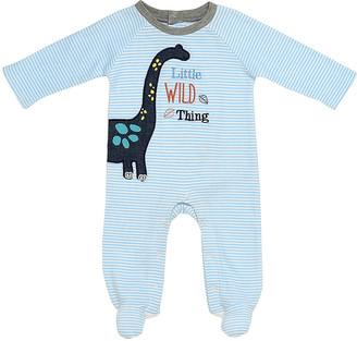 Baby Starters Boys' Footies Blue - Blue & Black 'Little Wild Thing' Footie - Newborn & Infant