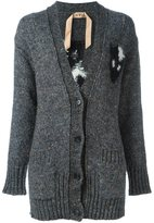 No.21 cat print cardi-coat