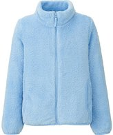 Uniqlo Girls Fluffy Yarn Fleece Long Sleeve Jacket
